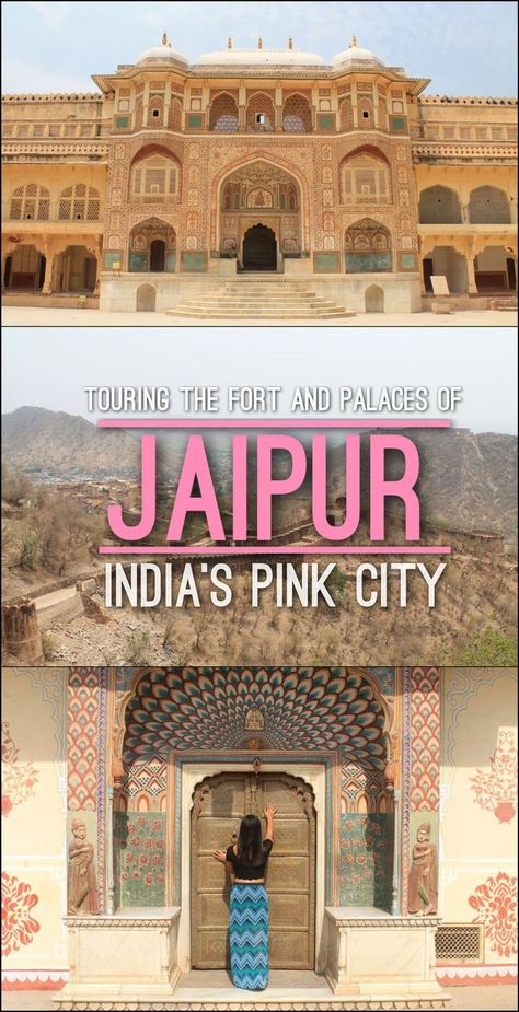 A rickshaw tour of the forts and palaces in Jaipur, Rajasthan, India's pink city.: