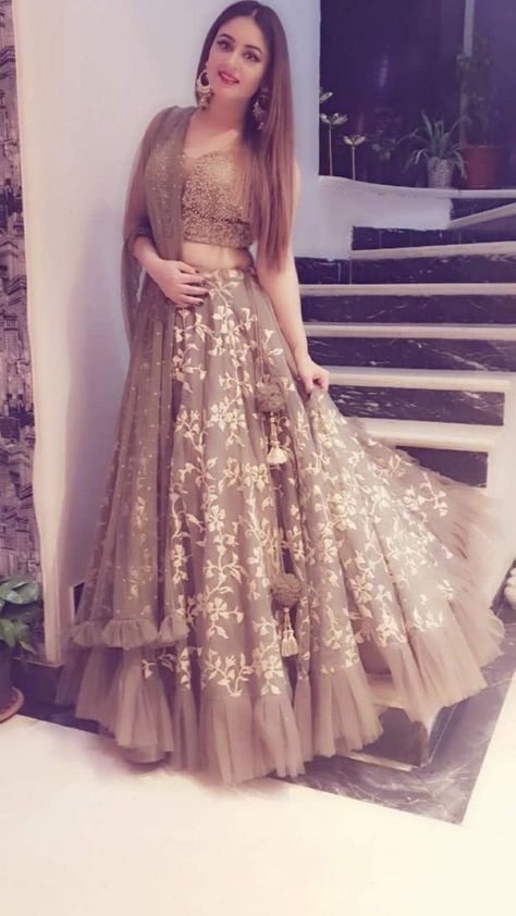 2 Pieces Prom Dress,Lace V neck Tulle Formal