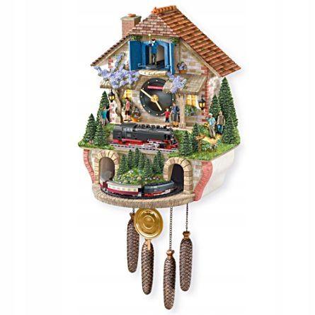 Zegar Scienny Brocken Kolejka Z Kukulka Szyszkami 7575384747 Oficjalne Archiwum Allegro Cuckoo Clock Clock Acdc