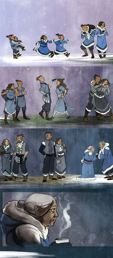I hated that Sokka wasn't in Legend of Korra. Cause that meant he'd already died. Meaning Katara had lost both Aang and her brother. Still had Zuko, but I doubt they got to see each other much. Avatar Aang, Avatar Airbender, Team Avatar, Aang The Last Airbender, Zuko And Katara, Avatar Series, Fire Nation, Meme Comics, Anime Shows
