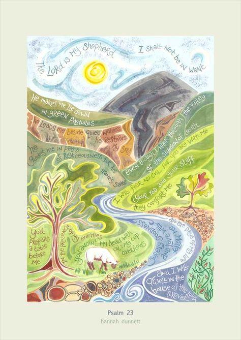 Hannah Dunnett Psalm 23 Art Poster