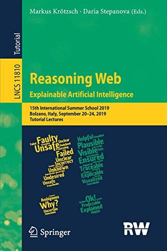 Free Download Pdf Reasoning Web Explaining Artificial Intelligence 15th International Summer School 2019 Bolzano Lectures Notes Knowledge Graph Summer School