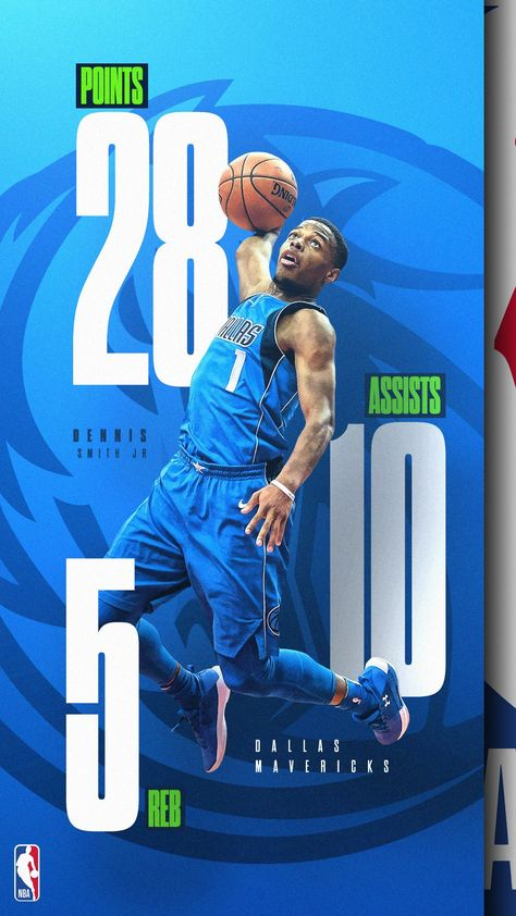 Nba mock stat graphic - dennis smith jr on behance basketball posters, basketball design,