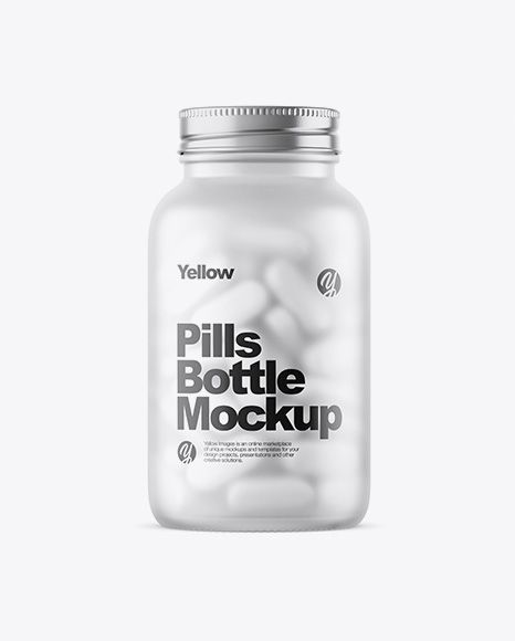 Frosted Glass Bottle With White Pills Mockup In Bottle Mockups On Yellow Images Object Mockups Mockup Free Psd Mockup Downloads Mockup Psd
