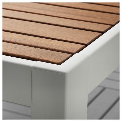 Sjalland Tisch 6 Armlehnstuhle Aussen Hellbraun Froson Duvholmen Rot Ikea Balkonmobel Ikea Und Stuhlpolster