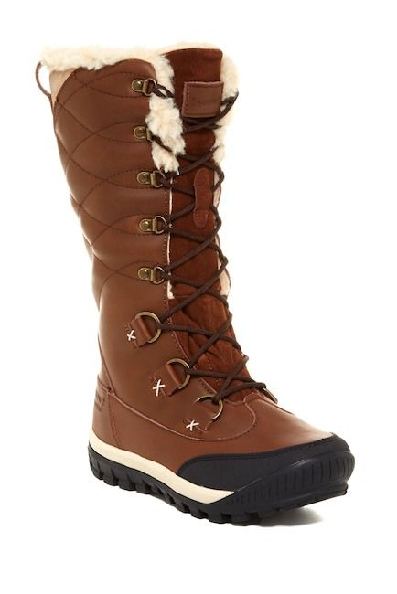 shearling lined lace up boots