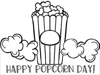 National Popcorn Day Hat Activity Pack Preschool Arts Crafts
