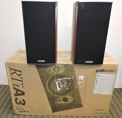 Ad Ebay Link Polk Audio Rtia3 High Performance Bookshelf Loudspeaker Pair Cherry Polk Audio Loudspeaker Speaker Wall Mounts