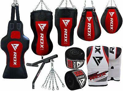 RDX Unfilled Punching Bag Gym Boxing Free Standing Target  MMA Training Kicking