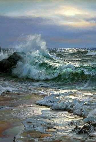 Ocean Painting By Rumi Gant On Umi Seascape Paintings Landscape Paintings