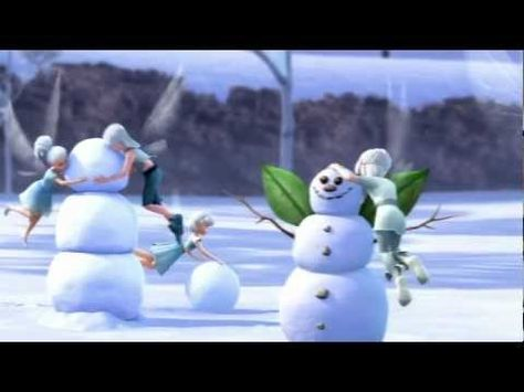 Disney Fairies Films - How To Build A Snowman--so cute and funny!