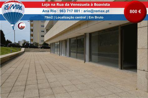 ARRENDAMENTO – Excelente loja à Boavista Loja comercial nova com WC na Rua da Venezuela. Tem 79m2, encontrando-se em bruto. Ótima localização, em zona residencial nobre da cidade do Porto, en…