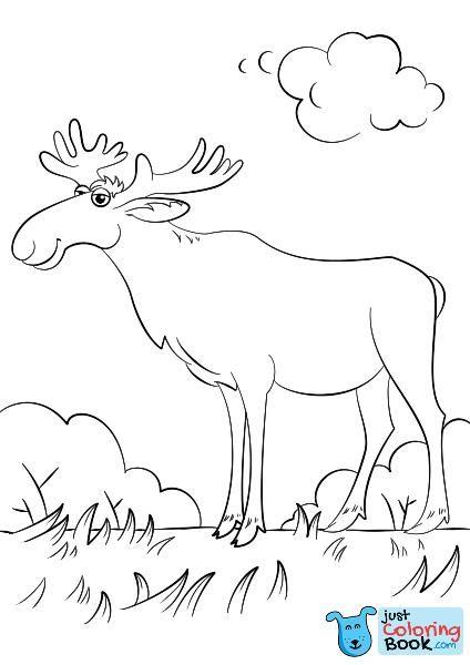 Cartoon Moose Coloring Page Free Printable Coloring Pages With Regard To Funny Moose Coloring Pages