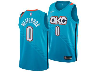 new style c2cf4 1675b Oklahoma City Thunder RUSSELL WESTBROOK Nike 2018 NBA Men's ...