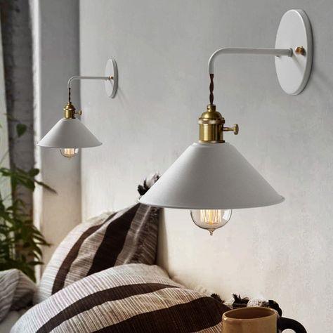 Applique Per Camera Da Letto.Industriale Lampada Da Parete Applique Da Parete Metallo Vintage