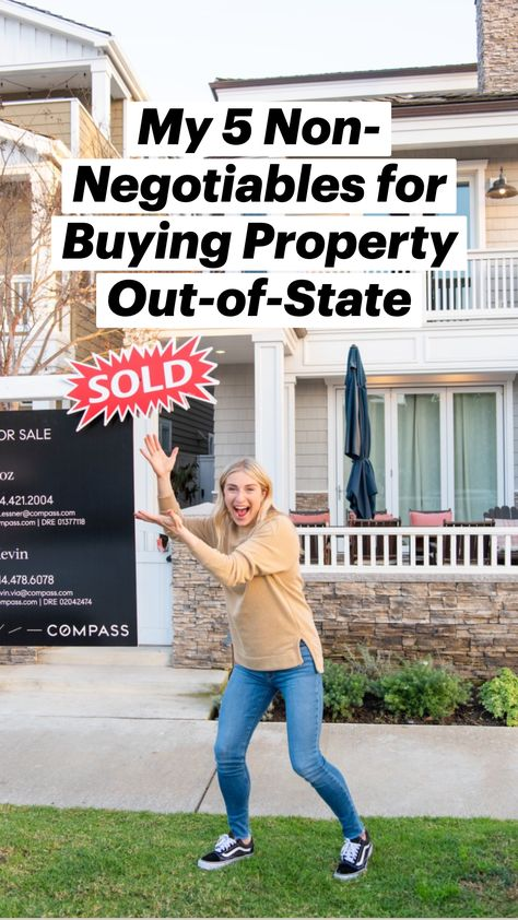 My 5 Non-Negotiables for Buying Property Out-of-State