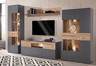 Forte Wohnwand Auf Rechnung Kaufen Wohnen Wohnwand Modern Wohnzimmer Tv Wand Ideen