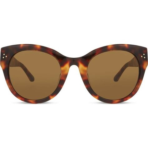 bd09ea222eb LFL393 tortoiseshell cat-eye sunglasses ( 540) ❤ liked on Polyvore  featuring accessories