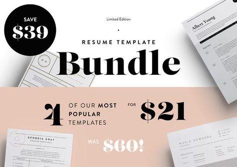 nice Most Popular Resume\u0027s Bundle! SALE CreativeWork247 - Fonts