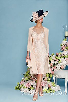Knee Length Mother Of The Bride Groom Dresses With Jacket Women S 2 Pieces Gown Ebay Bride Clothes Groom Dress Mother Of Groom Dresses