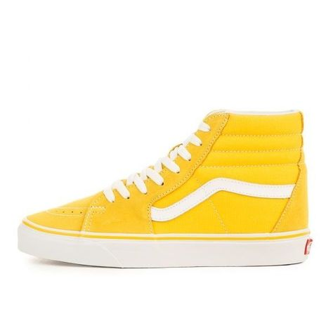 52e2fad8a5 SK8-HI SPECTRA YELLOW ( 65) ❤ liked on Polyvore featuring shoes ...