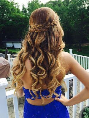24 Peinados con cabello suelto para graduacion