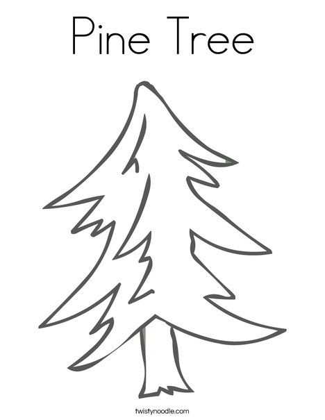 Pine Tree Coloring Page Twisty Noodle Tree Coloring Page Coloring Pages Flag Coloring Pages