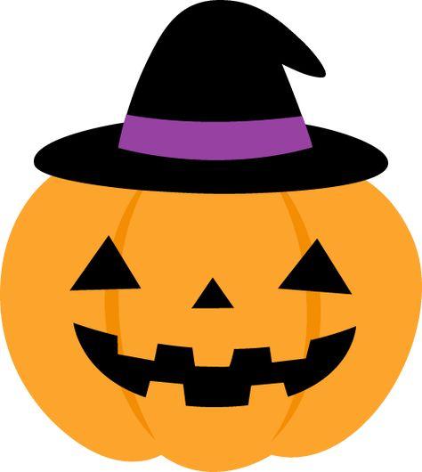 黒い帽子を被ったハロウィンのかぼちゃイラスト ハロウィン