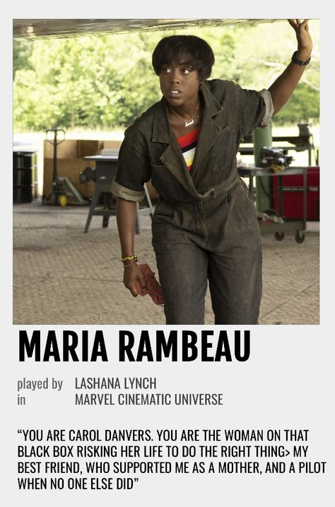 Maria Rambeau Polaroid Poster