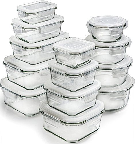 13 Pack Glass Storage Containers With Lids Glass Food