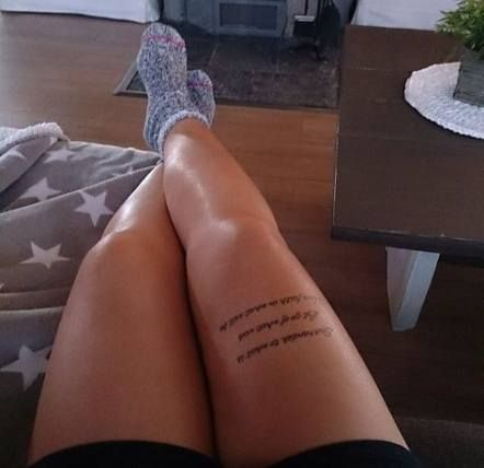 Tattoo Leg Text Beautiful 45 Ideas For 2019 Tattoo With Images