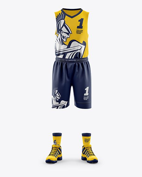 Download Men S Full Basketball Kit Mockup In Apparel Mockups On Yellow Images Object Mockups Clothing Mockup Basketball Kit Design Mockup Free