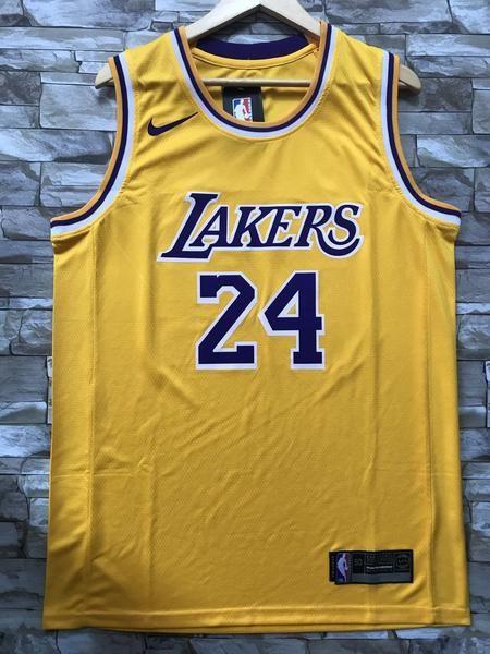 New Men 24 Kobe Bryant Jersey Yellow Los Angeles Lakers Swingman Jersey In 2020 Nba Jersey Outfit Basketball Jersey Outfit Jersey Outfit