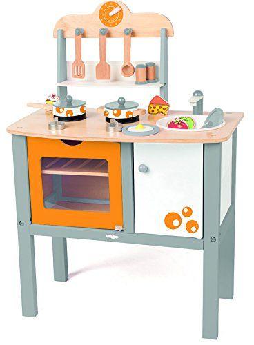 Woody Holz Kinderkuche Buona Cucina Mit Zubehor 17 Teilig Fur