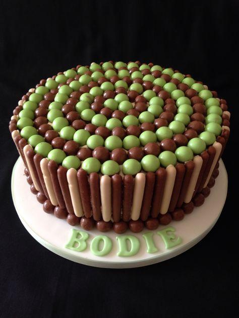 Mint Aero, chocolate fingers birthday cake