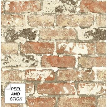 Brewster Loft Red Brick Paper Strippable Wallpaper Covers 56 4 Sq Ft Fd23287 The Home Depot Red Brick Wallpaper Brick Texture Brick Wallpaper