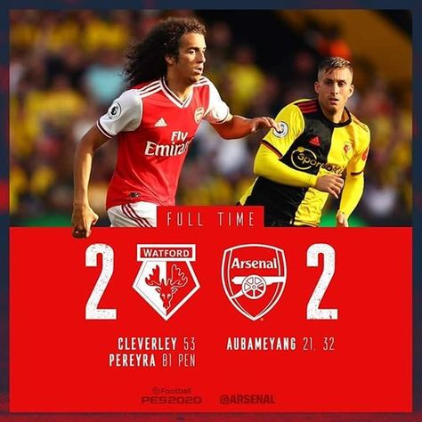 Watford come from behind to get a 2-2 draw with Arsenal. Shambolic defending once again is this #Emeryout yet?