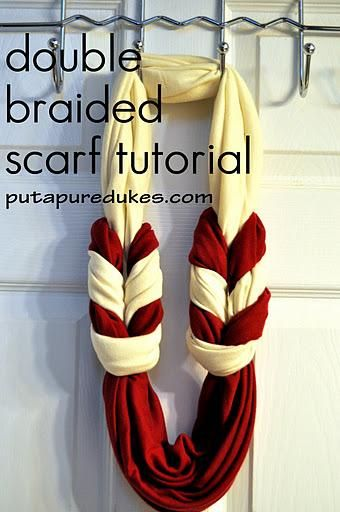 DIY Infinity Scarf : Double braided scarf tutorial