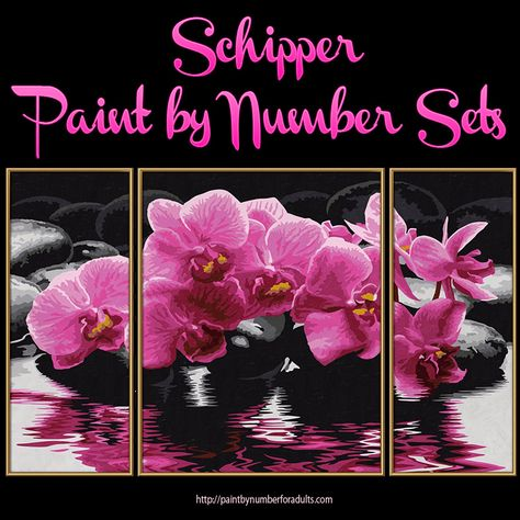 paint by number kits Diy oil painting Beautiful Phalaenopsis 16*20 inches.