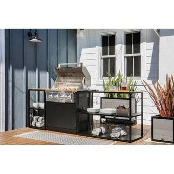 72 Outdoor Kitchen Island Frame In 2021 Modular Outdoor Kitchens Outdoor Kitchen Island Outdoor Kitchen