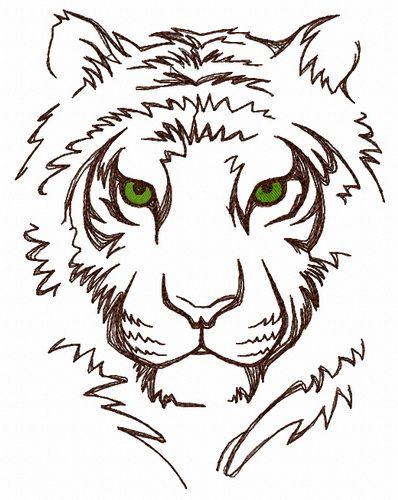 White tiger 2 embroidery design
