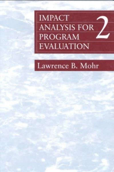 Impact Analysis For Program Evaluation  Products