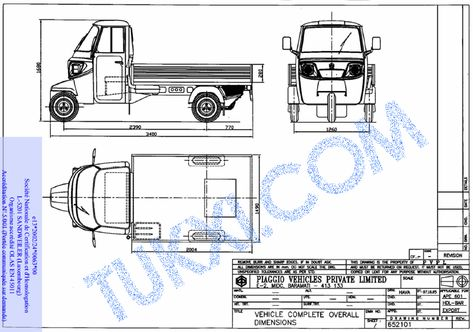 Piaggio Ape Dimensions And Specifications Truck Pinterest