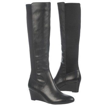 Women's Naturalizer Quinlee Wide Calf Boot Black Shoes.com
