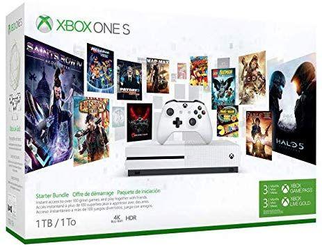 Amazon Com Xbox One S 1tb Console Starter Bundle Video Games Xbox One S 1tb Xbox One S Xbox One