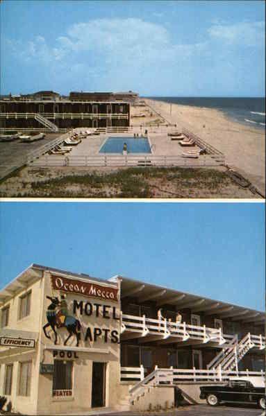 Ocean Mecca Efficiency Motel Ocean City Md Postcard Ocean City Maryland Ocean City Motel