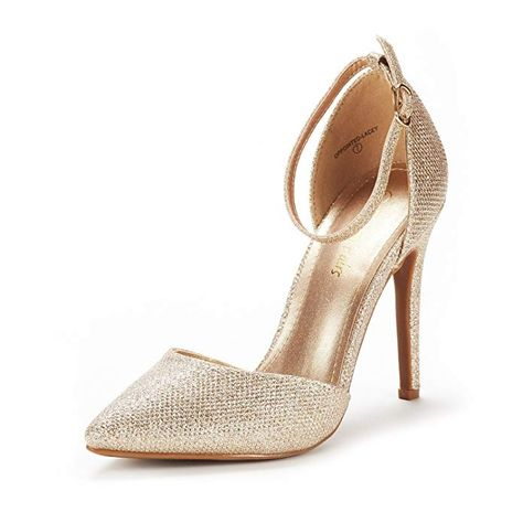 6122e9b0a23 DREAM PAIRS Women s Oppointed-Lacey Gold Glitter Fashion Dress High Heel  Pointed Toe Wedding Pumps Shoes Size 11 M US