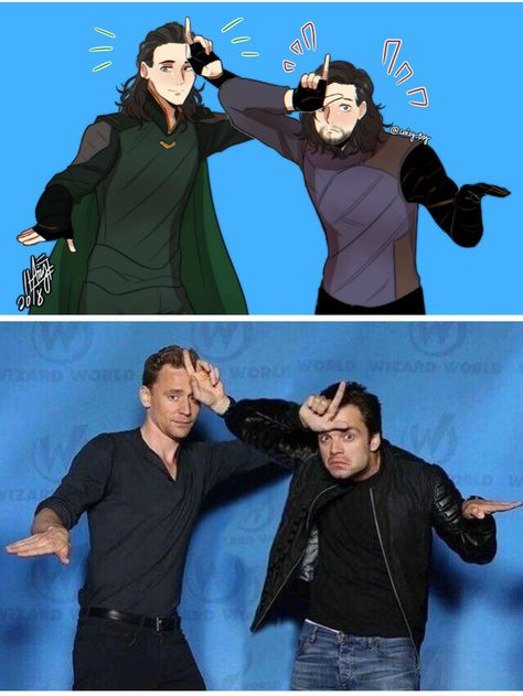 Loki and Bucky. Tom Hiddleston and Sebastian Stan…. – Loki and Bucky. Tom Hiddleston and Sebastian Stan…. – The post Loki and Bucky. Tom Hiddleston and Sebastian Stan…. – appeared first on Marvel Universe. Marvel Avengers, Marvel Comics, Avengers Actors, Funny Marvel Memes, Marvel Jokes, Avengers Poster, Loki Funny, Funny Memes, Avengers Humor
