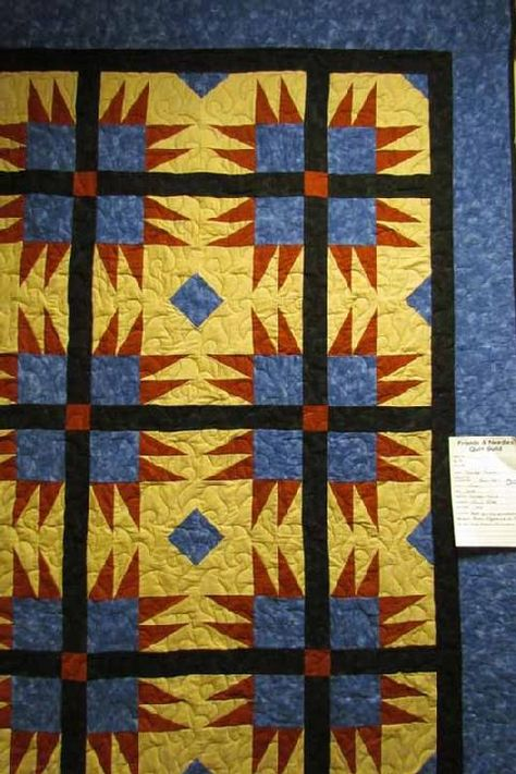 Friends and Needles Quilt Guild Quilt Show - August 2012 - Bear Paw done in Flannel by Marilyn Prince.
