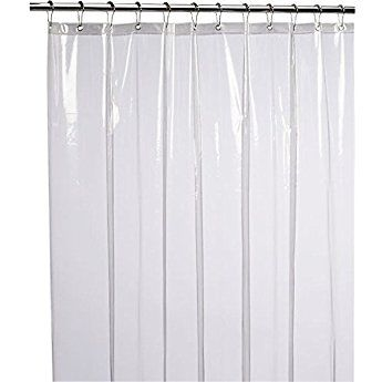 Liba Mildew Resistant Anti Bacterial Peva 8g Shower Curtain Liner